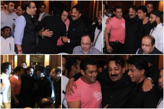 Khan War Ends SRK, Salman Patch Up At Baba Siddiqui's Iftaar Party.