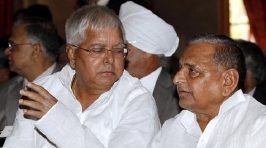 Lalu Prasad Yadav and Mulayam Singh Yadav