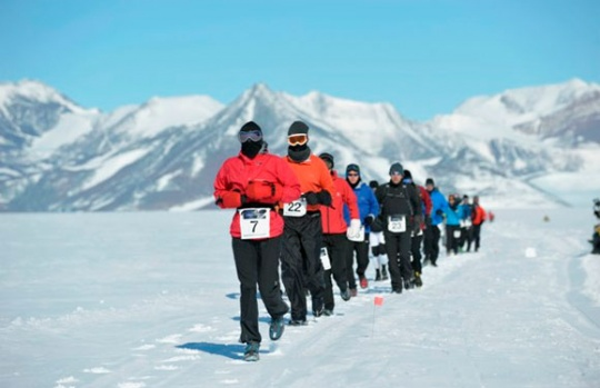 Antarctic Ice Marathon, Union Glacier Camp, Antarctica