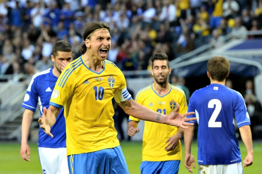 Ibrahimovic Steers Sweden to Victory