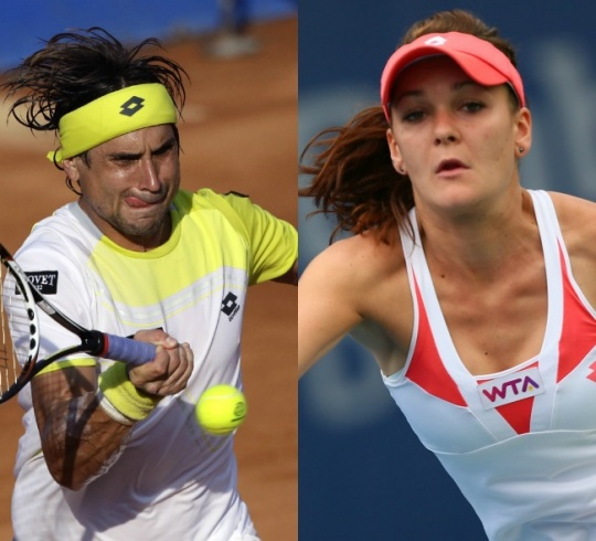 David Ferrer and Agnieszka Radwanska
