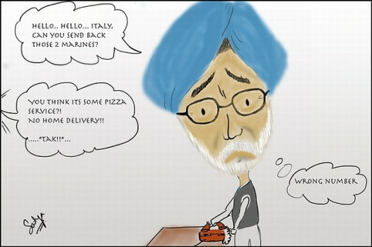 Italian Marines India Controversy Cartoon