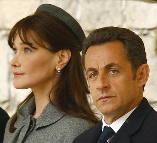 Nicolas Sarkozy with Carla Bruni