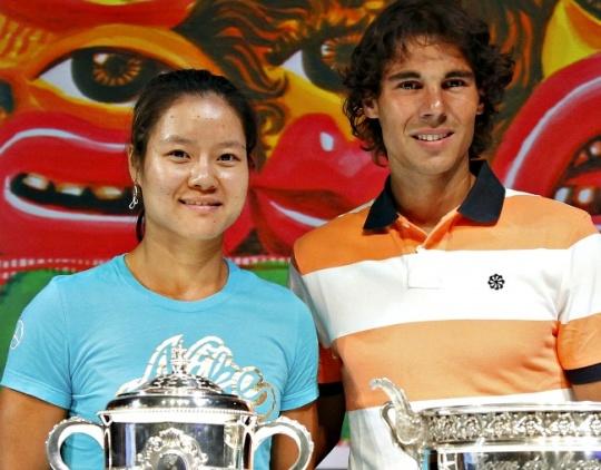 Rafael Nadal and Li Na