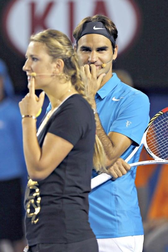Roger Federer and Victoria Azarenka