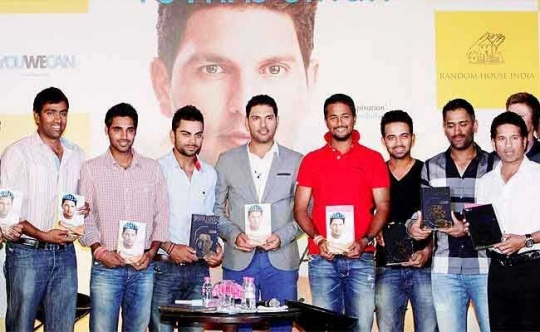 Team India Stars Get Emotional at Yuvraj Singh's Memoir Launch