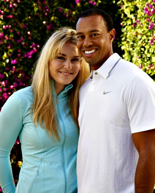 Lindsey Vonn, Tiger Woods' Lucky Charm?