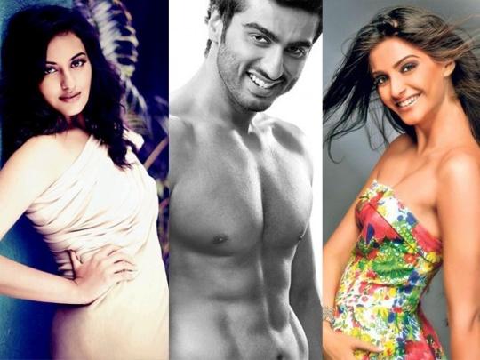 Sonakshi, Arjun, Sonam