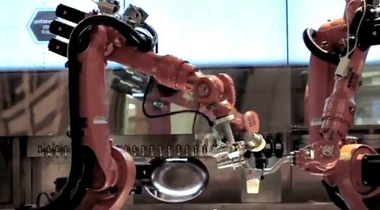 Robot Takes Drink Order via Smartphone