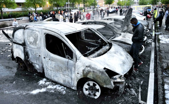 Sixth Night of Riots in Stockholm