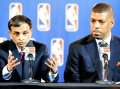 Vivek Ranadive and Mayor Kevin Johnson
