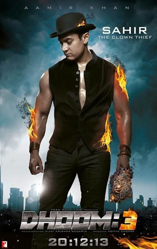 AAMIR KHAN IN DHOOM 3