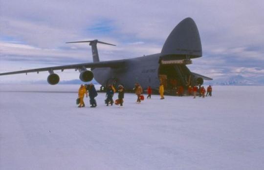 Sea ice runway