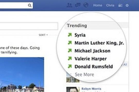 Facebook Trends