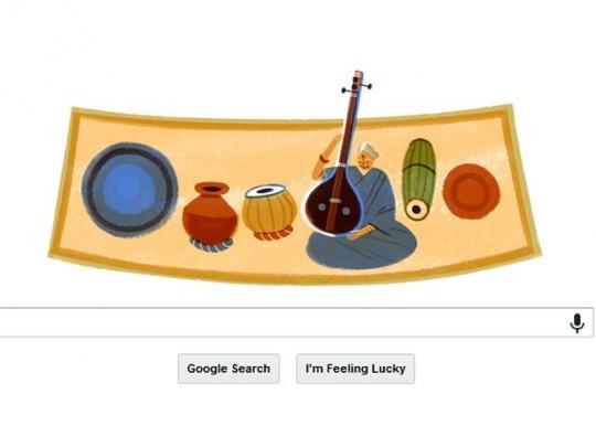 Google Doodle M S Subbulakshm