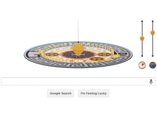 Leon Foucault Google Doodle