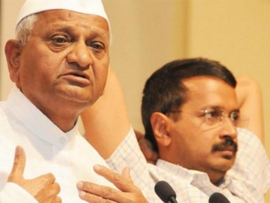Arvind Kejriwal, Anna Hazare