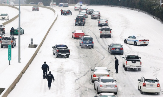 Ice Storm Causes Havoc On US South, East Coast