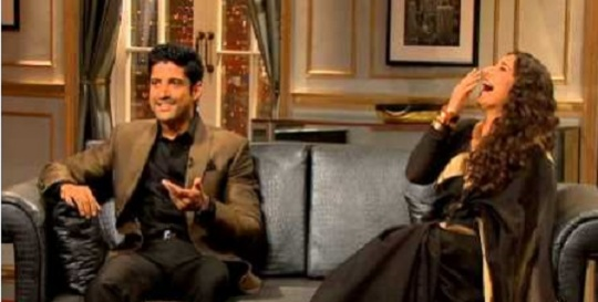 Farhan Akhtar and Vidya Balan on Koffee With Karan