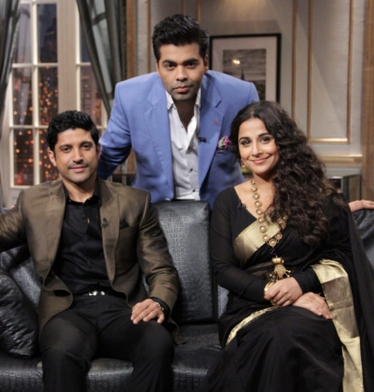 Vidya Balan and Farhan Akhtar on Koffee With Karan