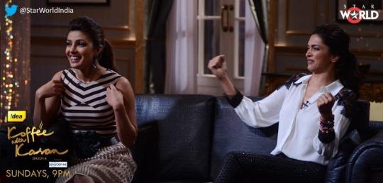 Priyanka Chopra, Deepika Padukone on Koffee With Karan