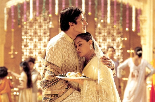Amitabh Bachchan and Jaya Bachchan in Kabhi Khushi Kabhie Gham