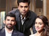 Aditya Roy Kapoor and Shraddha Kapoor on Koffee With Karan