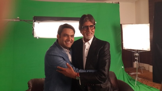 Amitabh Bachchan with Kapil Sharma