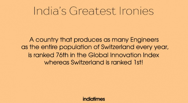 Irony that is India