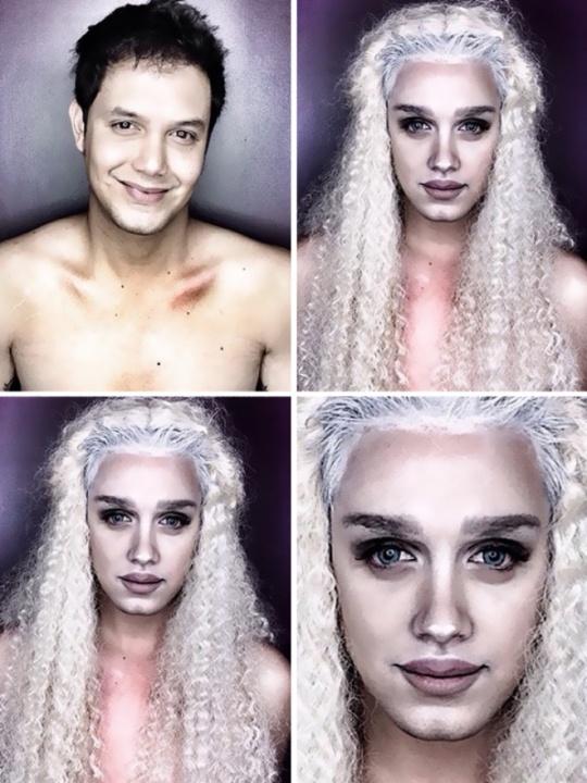 Paolo ballesteros makeup transformation halloween
