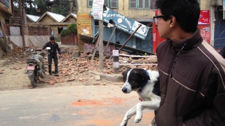 Man saves his dog nepal