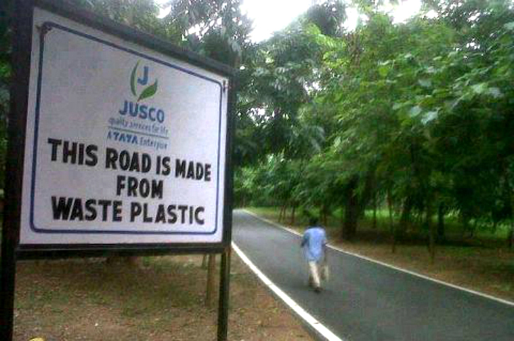 roads made from plastic by JUSCO