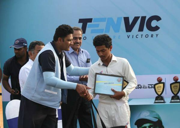 Anil Kumble at Tenvic