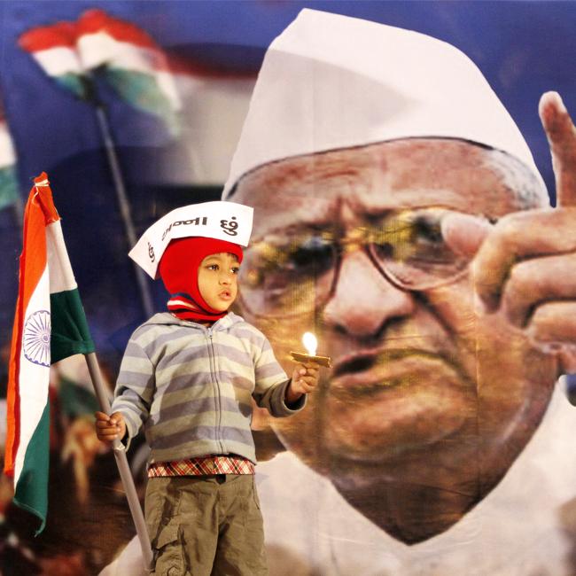 Anna Hazare corruption campaign