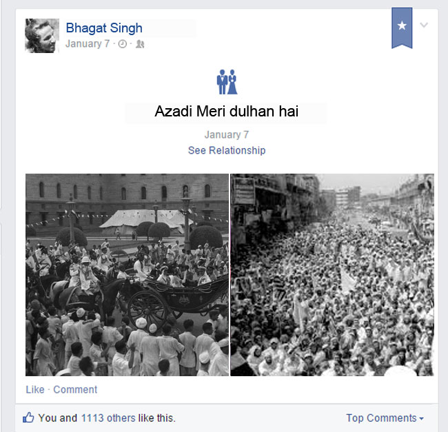 Had Facebook been there during Freedom Movement?