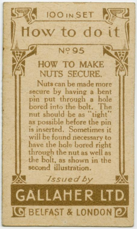 How To Make Nuts Secure