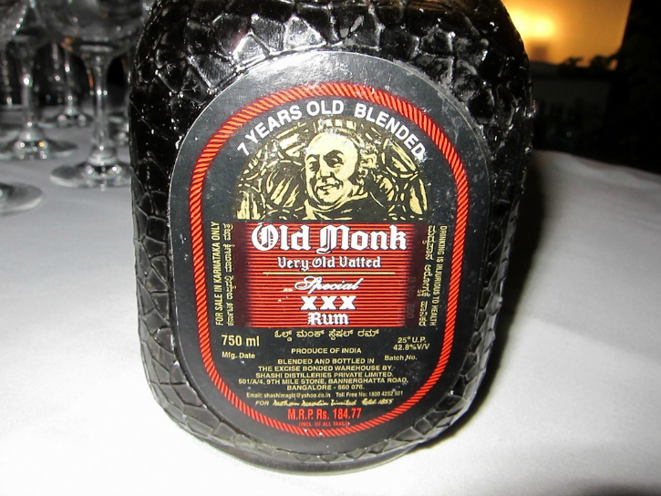 Old monk rum is strugglin