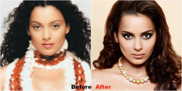 Image result for kangana ranaut eyebrow makeover