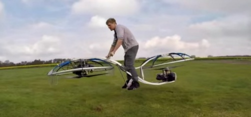 This Plumber Built A Hoverbike In His Garage, And We Wish We Could Ride It To Work!