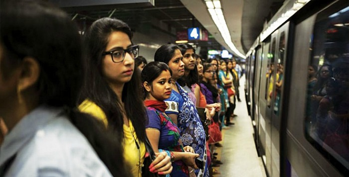 Image result for girls cribbing in metro