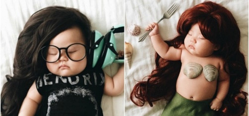 While This Baby Sleeps Away To Glory, Her Mom Transforms Her Into A Mermaid, Jon Snow & Others!