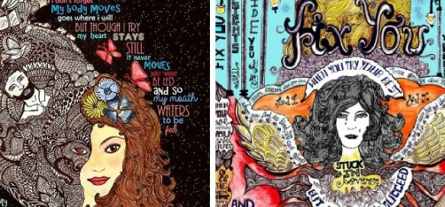 Mumbai-Based Artist Turns Coldplay's Lyrics Into Eye-Popping Art And It Is Beyond Breathtaking