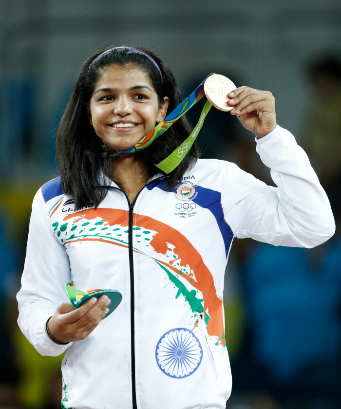 Is Sakshi Malik not happy with Haryana Government?