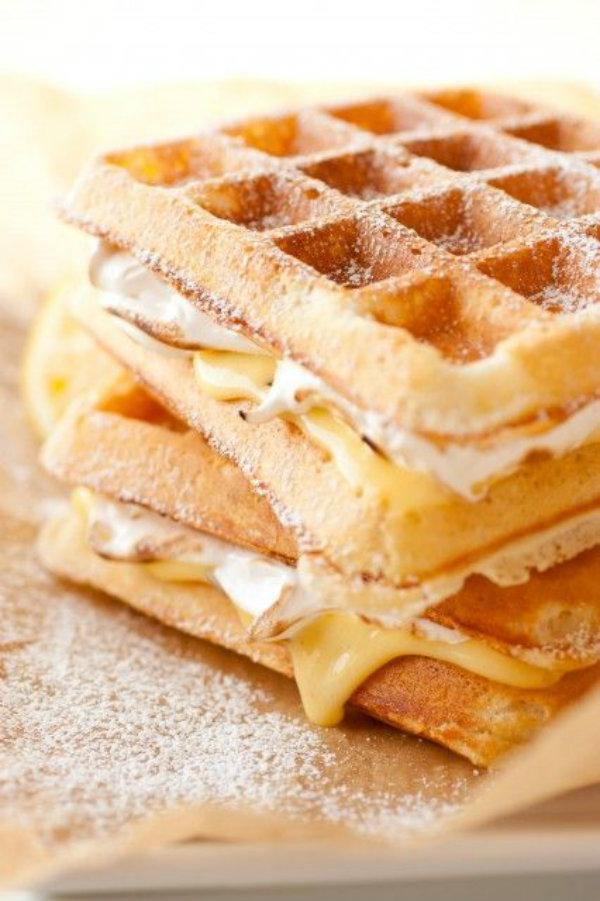 lemon oat waffle