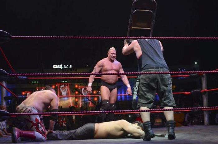Khali being beaten