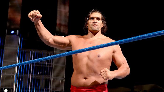 Great Khali inside a WWE ring