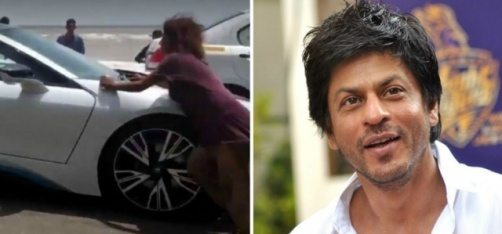 Watch: A Homeless Woman Throws Herself In Front Of Shah Rukh Khan's Car!