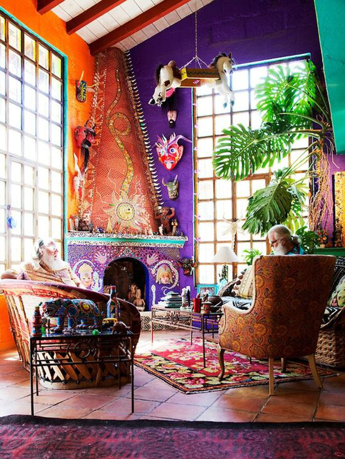 10 simple ways you can decorate a bohemian style room on a Decorate a large wall cheaply