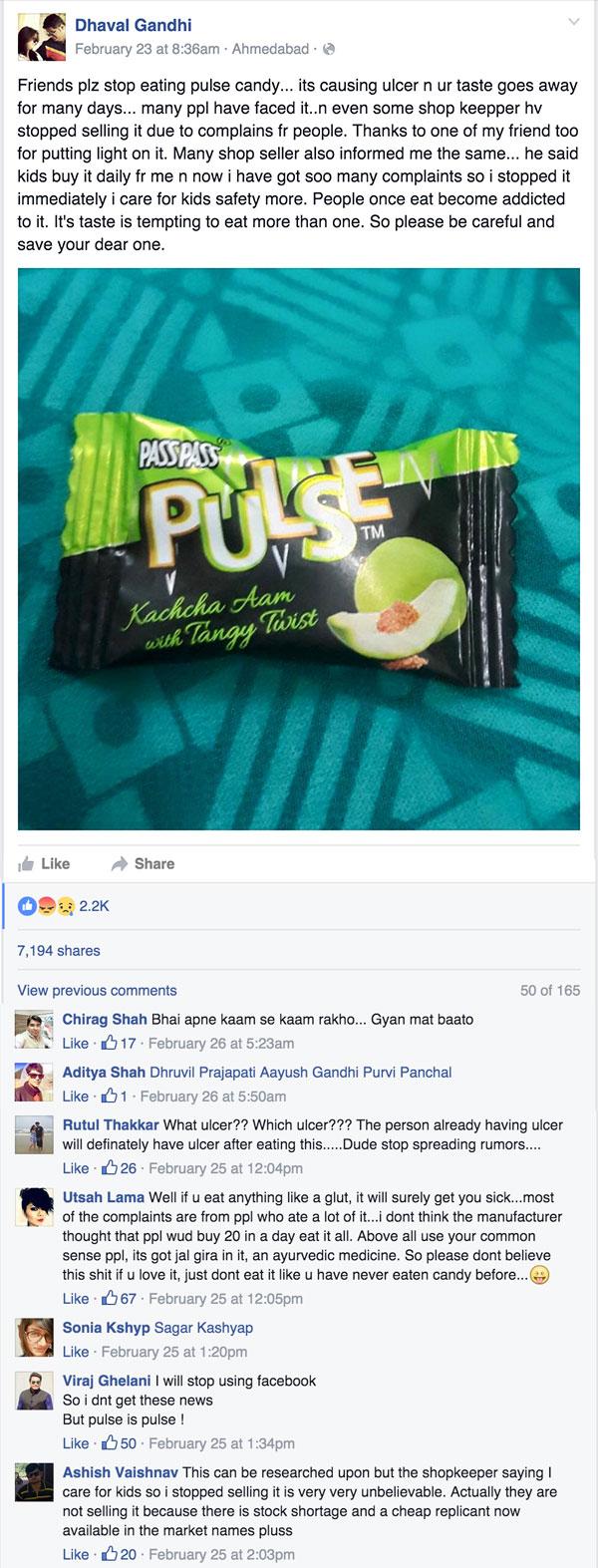 Pulse Facebook Post