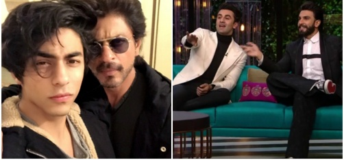 Ranbir-Ranveer's Epic Episode Of KWK, SRK's Adorable Selfie With Aryan And More From Ent